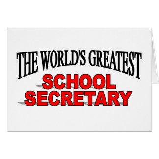 The World's Greatest School Secretary Card