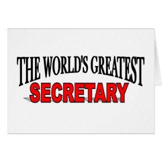 The World's Greatest Secretary Card