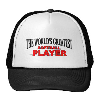 The World's Greatest Softball Player Hats