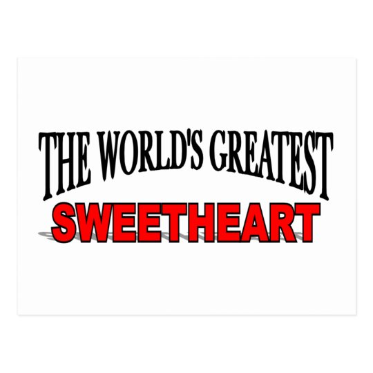 The World's Greatest Sweetheart Postcard