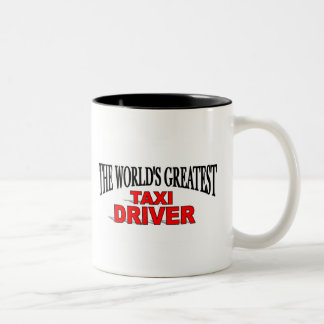 The World's Greatest Taxi Driver Two-Tone Coffee Mug
