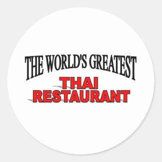 The World's Greatest Thai Restaurant Round Sticker