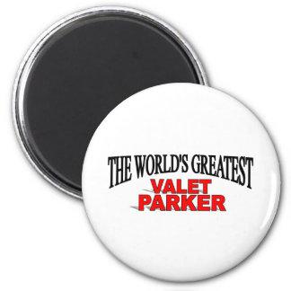The World's Greatest Valet Parker 6 Cm Round Magnet