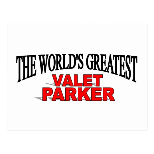 The World's Greatest Valet Parker Postcard