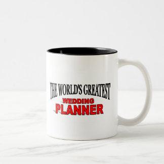 The World's Greatest Wedding Planner Two-Tone Coffee Mug