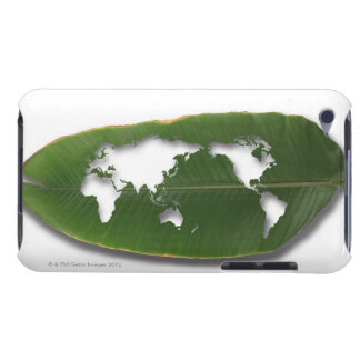 The worm-eaten leaf world map barely there iPod covers