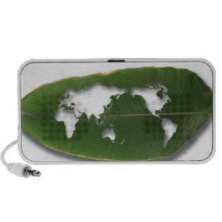 The worm-eaten leaf world map travel speaker
