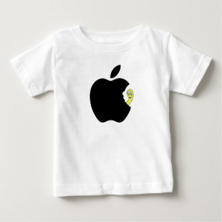 The worm likes apple baby T-Shirt