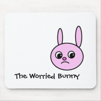 The Worried Bunny Mousepad