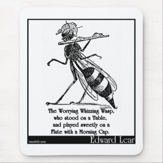 The Worrying Whizzing Wasp Mousepads