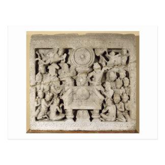 The worship of the Buddhist symbols, Amaravati (li Postcard