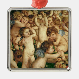 The Worship of Venus, 1519 Silver-Colored Square Decoration