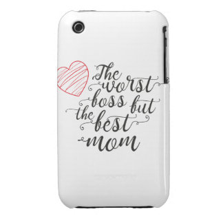 The worst boss,but the best mom iPhone 3 cases