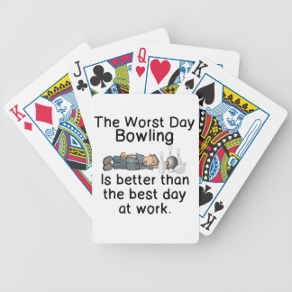 THE WORST DAY BOWLING - BETTER THAN WORK BICYCLE PLAYING CARDS