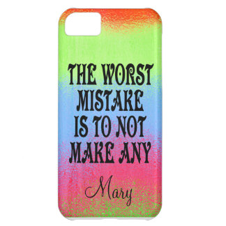 The Worst Mistake is Not to Make Any iPhone 5C Case