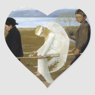 The Wounded Angel Heart Sticker