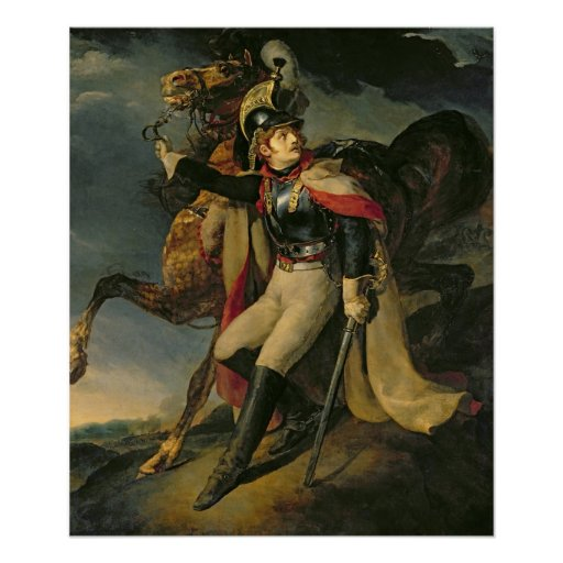 The Wounded Cuirassier, 1814 Poster