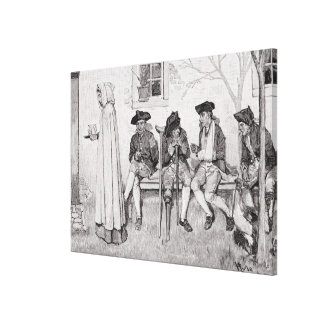 The Wounded Soldiers Sat Along the Wall' Canvas Print