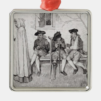 The Wounded Soldiers Sat Along the Wall' Christmas Ornament