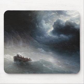 The Wrath of the Seas Ivan Aivazovsky seascape Mouse Pad