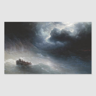 The Wrath of the Seas Ivan Aivazovsky seascape Rectangular Sticker