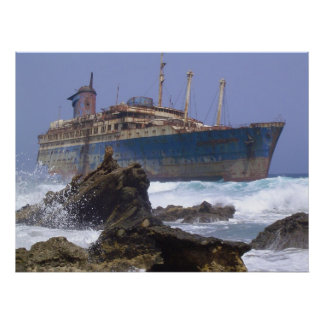 The wreckage of the American Star Canary Islands Poster