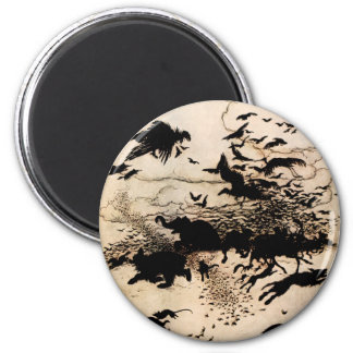 The Wren and the Bear 6 Cm Round Magnet