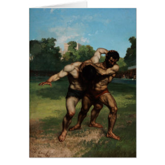 The Wrestlers by Gustave Courbet 1862 Card