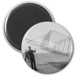 The Wright Brothers test flight Magnet