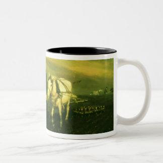 The writer Lev Nikolaevich Tolstoy Two-Tone Coffee Mug