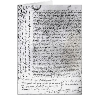 The written dispatches of Sir Francis Drake Greeting Card