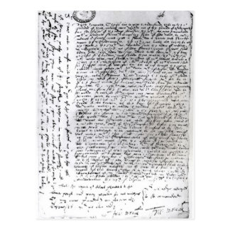 The written dispatches of Sir Francis Drake Postcard