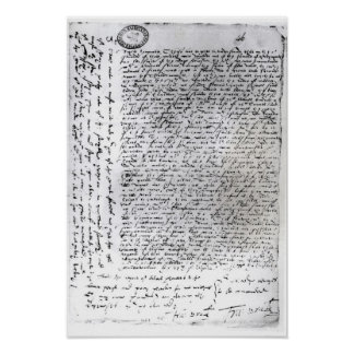 The written dispatches of Sir Francis Drake Poster