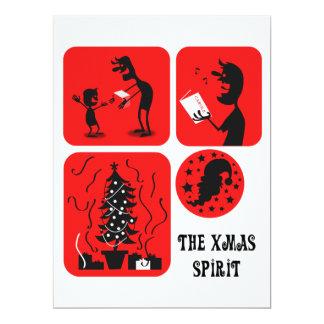 The Xmas spirit 17 Cm X 22 Cm Invitation Card