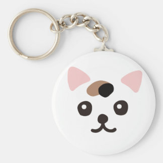 The ya it is densely the face (three hair) basic round button key ring