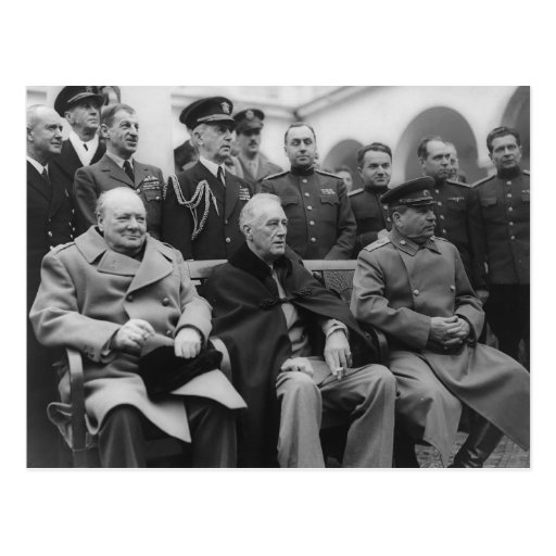 The Yalta Conference Postcard