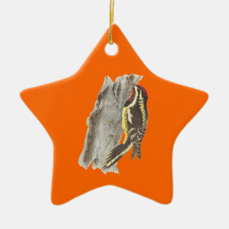 The Yellow-bellied Woodpecker Picus varius Christmas Tree Ornaments