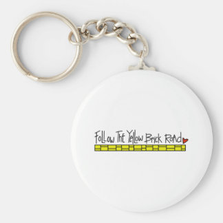 The Yellow Brick Road Basic Round Button Key Ring