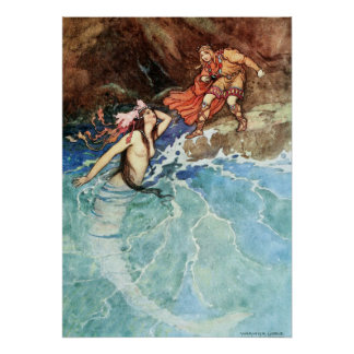 The Yellow Dwarf by Warwick Goble Poster