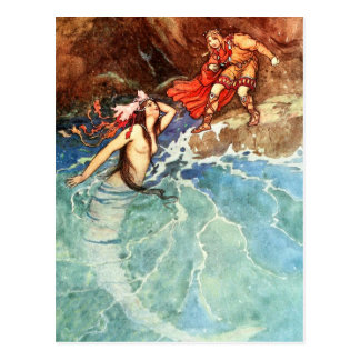The Yellow Dwarf:  The King Meets The Mermaid Postcard