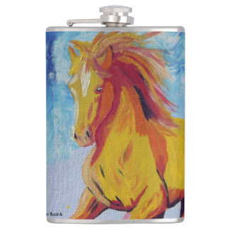 The Yellow Horse Hip Flask