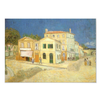 """The Yellow House by Vincent van Gogh 3.5"""" X 5"""" Invitation Card"""