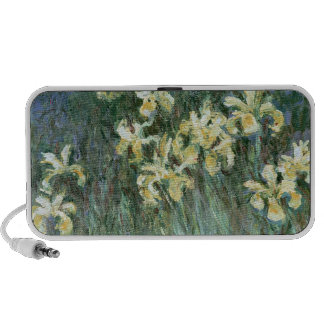 The Yellow Irises (oil on canvas) Portable Speaker