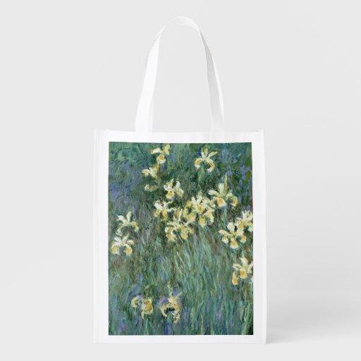 The Yellow Irises (oil on canvas) Market Totes