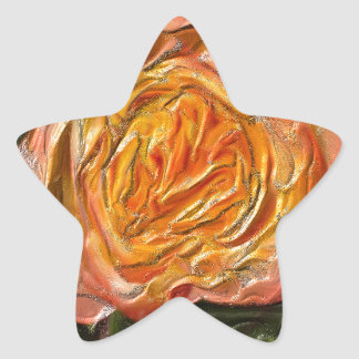 The yellow-pink Rose Star Sticker