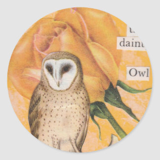 The Yellow Rose, and the Dainty Owl Stickers
