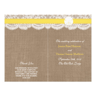 The Yellow Sand Dollar Wedding Collection Programs Personalized Flyer