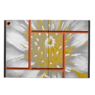 The Yellow Water Lily Square Pattern Design iPad Air Cover