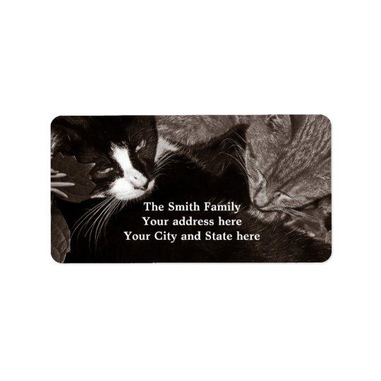 The Yin Yang Cats Address Label