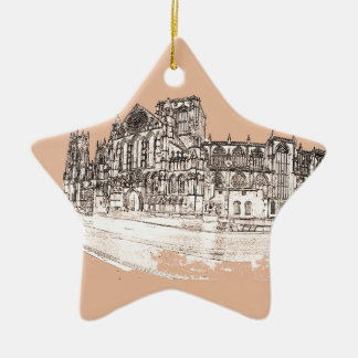 The York Minster Ceramic Star Decoration
